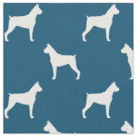 Boxer-HundeSilhouette-Muster Stoff