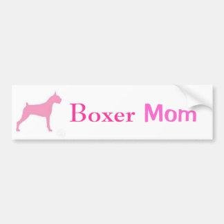 Boxer-Mamma-Autoaufkleber Autoaufkleber