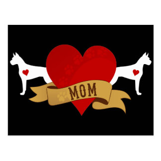 Boxer-Mamma [Tätowierungsart] Postkarte