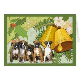 Boxer-Weihnachtskarte Bell Karte