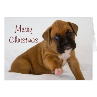Boxer-Weihnachtskarte Grußkarte