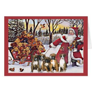 Boxer-Weihnachtskarten-Sankt-Bären Karte