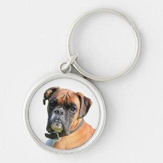 Boxerhundeschönes Fotoporträt Schlüsselanhänger