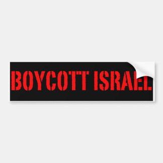 Boykott Israel - Autoaufkleber