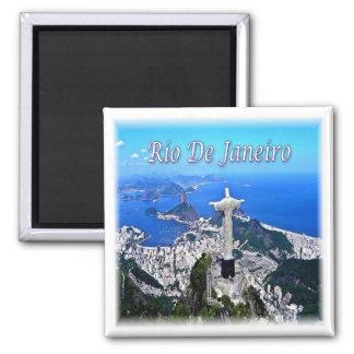 BR * Brasilien - Rio de Janeiro Christus Redeemer Quadratischer Magnet