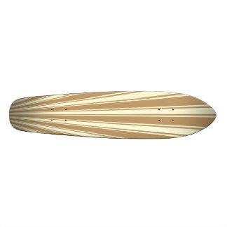 Brache-Farbstreifen-flippiges Muster 21,6 Cm Skateboard Deck