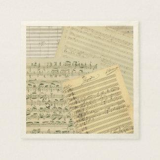 Brahms Musik-Manuskript-Gemisch Papierserviette