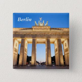 Brandenburger Felsen Berlin Quadratischer Button 5,1 Cm