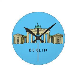 Brandenburger Tor Berlin Runde Wanduhr
