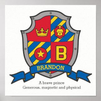 Brandon Jungen nennen Poster