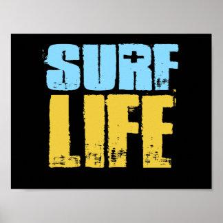 Brandungs-Leben-Strand-Surfer-Art Poster
