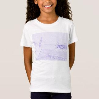 Brandungssurfbrett Shackangriff, der lila Weiß T-Shirt