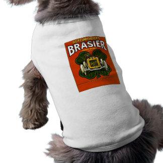 Brasier-Automobil-Vintage französische Anzeige Ärmelfreies Hunde-Shirt