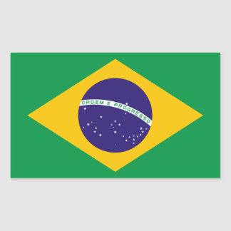 Brasilianische Flagge Rechteckiger Aufkleber