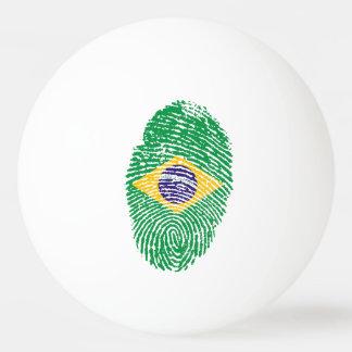 Brasilianische Touchfingerabdruckflagge Ping-Pong Ball