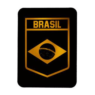 Brasilien-Emblem Magnet
