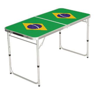 Brasilien-Flagge Beer Pong Tisch