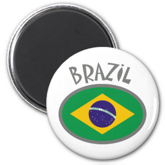 Brasilien-Flagge - cooler Entwurf! Runder Magnet 5,1 Cm
