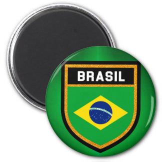 Brasilien-Flagge Runder Magnet 5,1 Cm