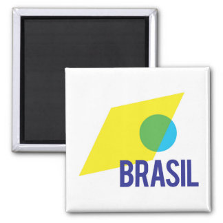 Brasilien-Flaggen-Magnet Quadratischer Magnet