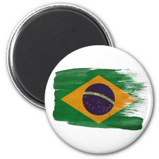 Brasilien-Flaggen-Magneten Runder Magnet 5,1 Cm