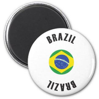 Brasilien-Flaggen-Rad Runder Magnet 5,1 Cm