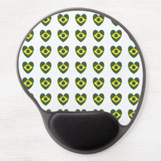 Brasilien-Herz Gel Mousepad