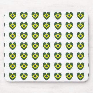Brasilien-Herz Mauspads