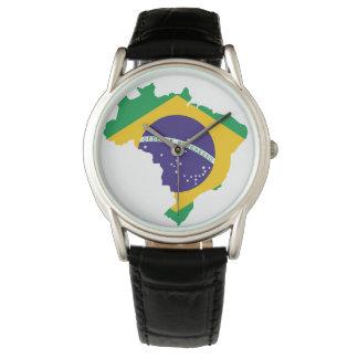 Brasilien-Land Uhr