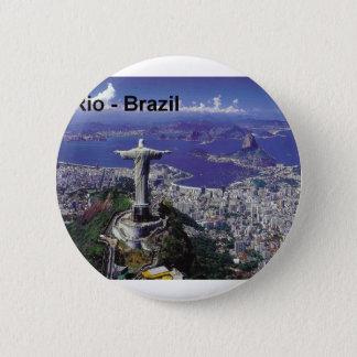 Brasilien Rio de Janeiro (St.K.) Runder Button 5,7 Cm