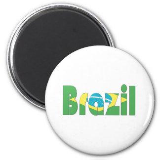 Brasilien Runder Magnet 5,1 Cm