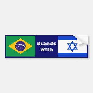 Brasilien steht mit Israel Autoaufkleber