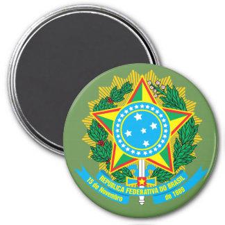 Brasilien-Wappen Magneten Runder Magnet 7,6 Cm
