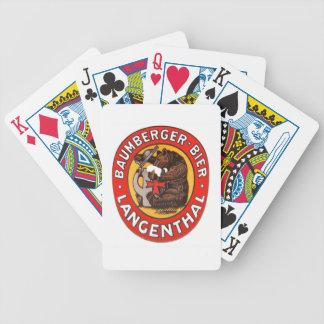 Brauerei Baumberger Langenthal Kartenspiele Bicycle Spielkarten