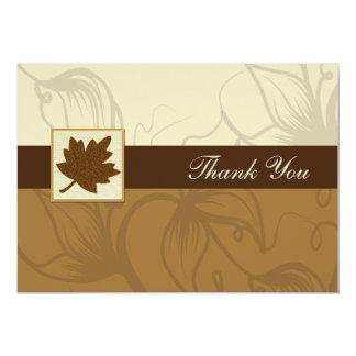braune Hochzeit im Herbst danken Ihnen Karte