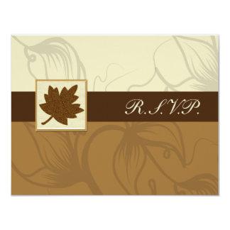 braune Hochzeit im Herbsts-uAwgkarten Karte