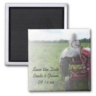 Braut-Bauernhof-Traktor-Land, das Save the Date We Magnets