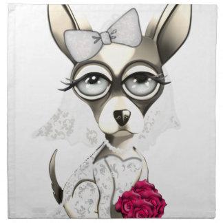 Braut-Chihuahua Stoffserviette