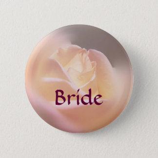 Braut-gelber Rosen-Blumen-Knopf Runder Button 5,7 Cm