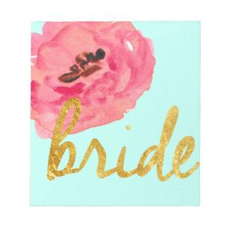 Braut-Geschenke Memo Notiz Pads