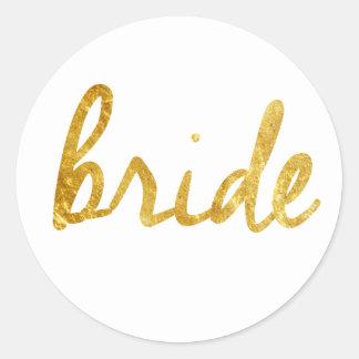 Braut-Geschenke Runder Aufkleber