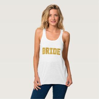 Braut-Goldfolie Bachelorette Behälter Tanktop