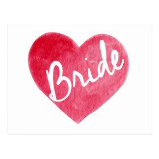 Braut-Herz-Karte Postkarte
