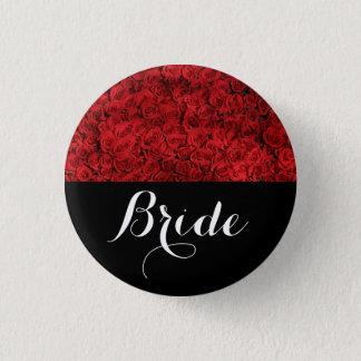 Braut-Hochzeits-Rote Rosen Runder Button 3,2 Cm