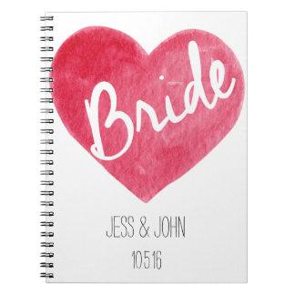 Braut-Notizbuch Notizbücher