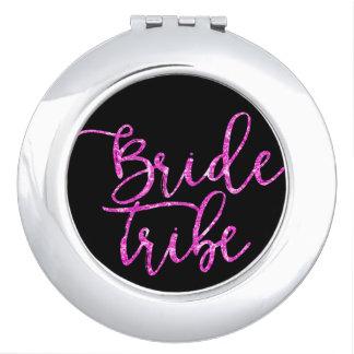 Braut-Stamm-Brautjungferngeschenk Vertrags-Spiegel Taschenspiegel