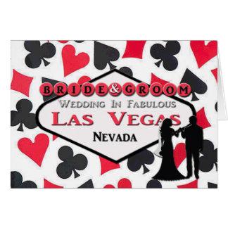 Braut-u. Bräutigam-Las Vegas-Hochzeits-Karte Karte