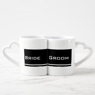 Braut u. Bräutigam (Schwarzes/Weiß) Herztasse