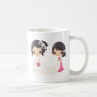 Braut und Trauzeugin Tasse