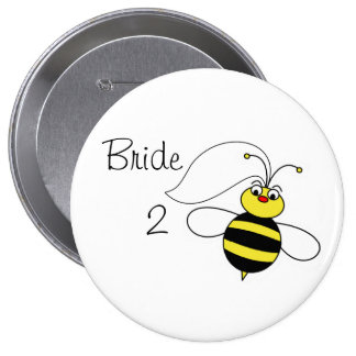 Braut zur Biene Runder Button 10,2 Cm